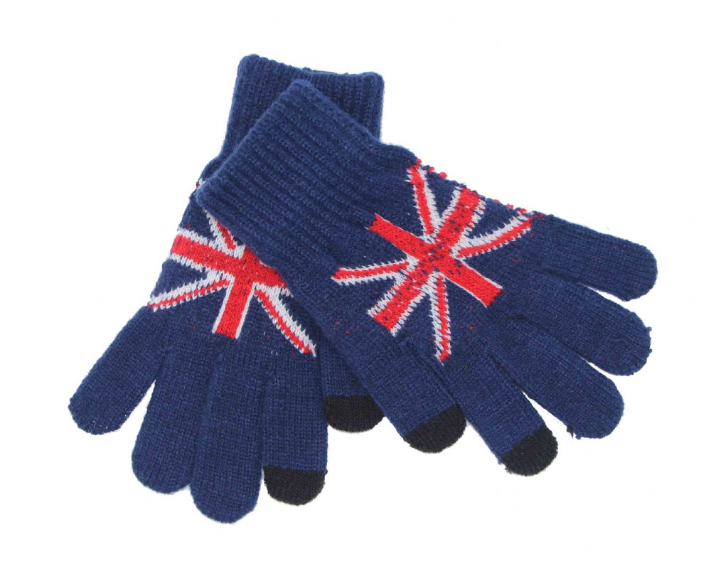 Union Jack knitted gloves  GL614201